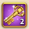 ライキン、金の鍵×2