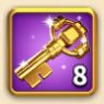ライキン、金の鍵×8