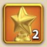 ライキン、輝ける星の勲章×2