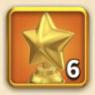 ライキン、輝ける星の勲章×6