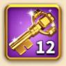 ライキン、金の鍵×12