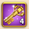 ライキン、金の鍵×4