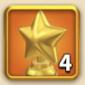 ライキン、輝ける星の勲章×4