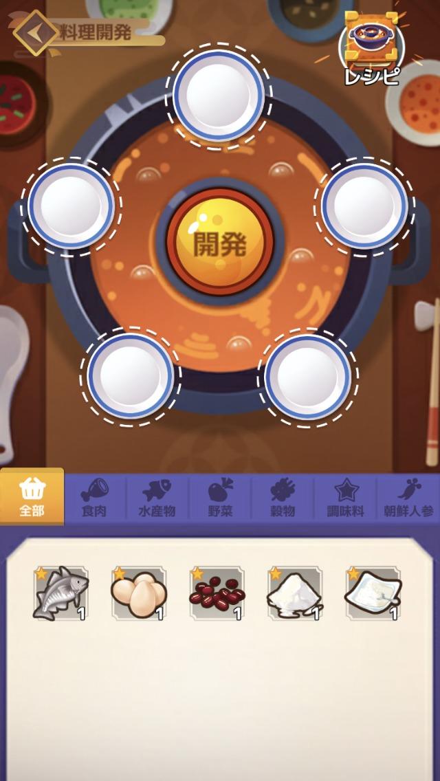 幻想レストラン、レシピ開発