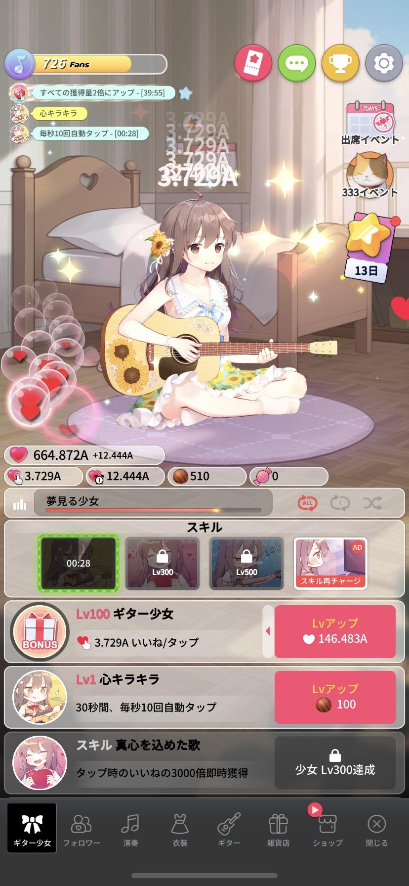 ギター少女、放置